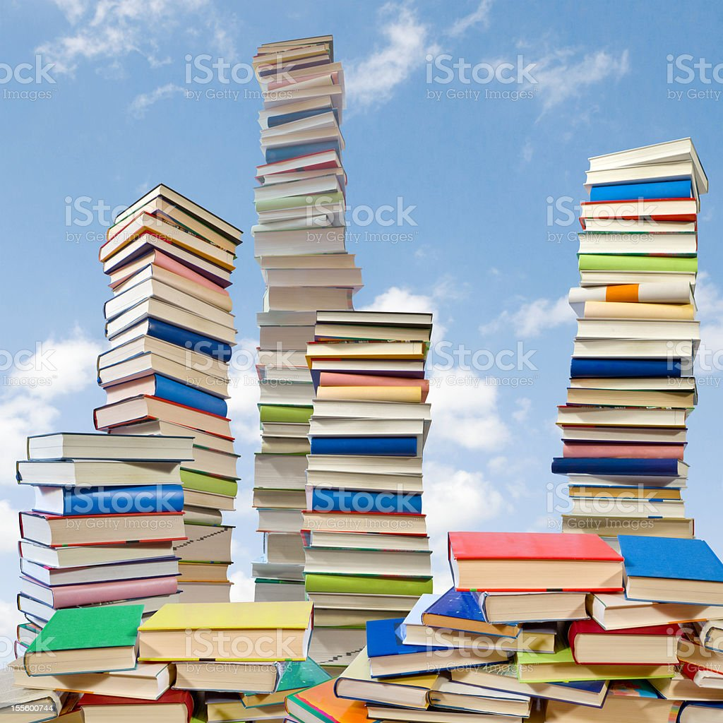 book mountains stock photo