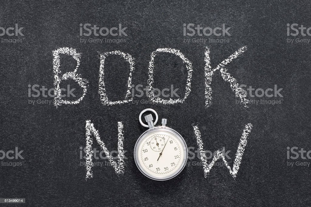 book now watch stock photo