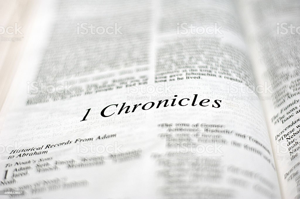 Book of 1 Chronicles stock photo