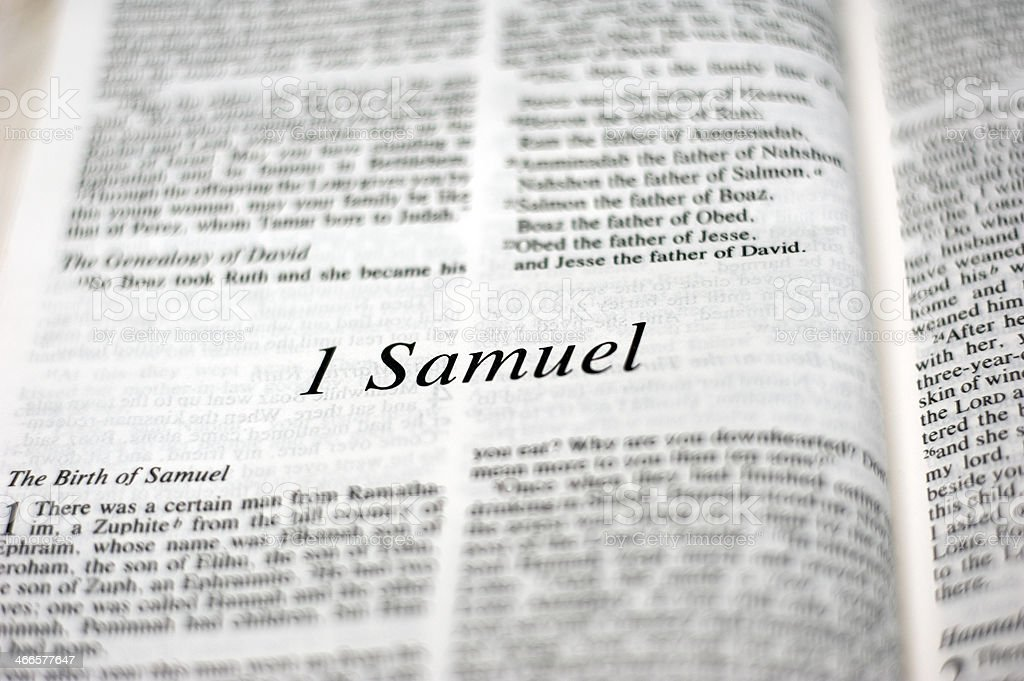 Book of 1 Samuel stock photo