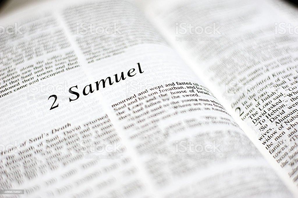 Book of 2 Samuel stock photo