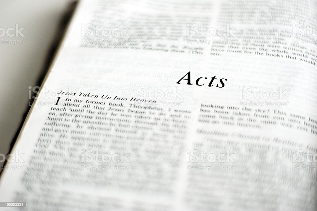 Book of Acts in the Bible stock photo