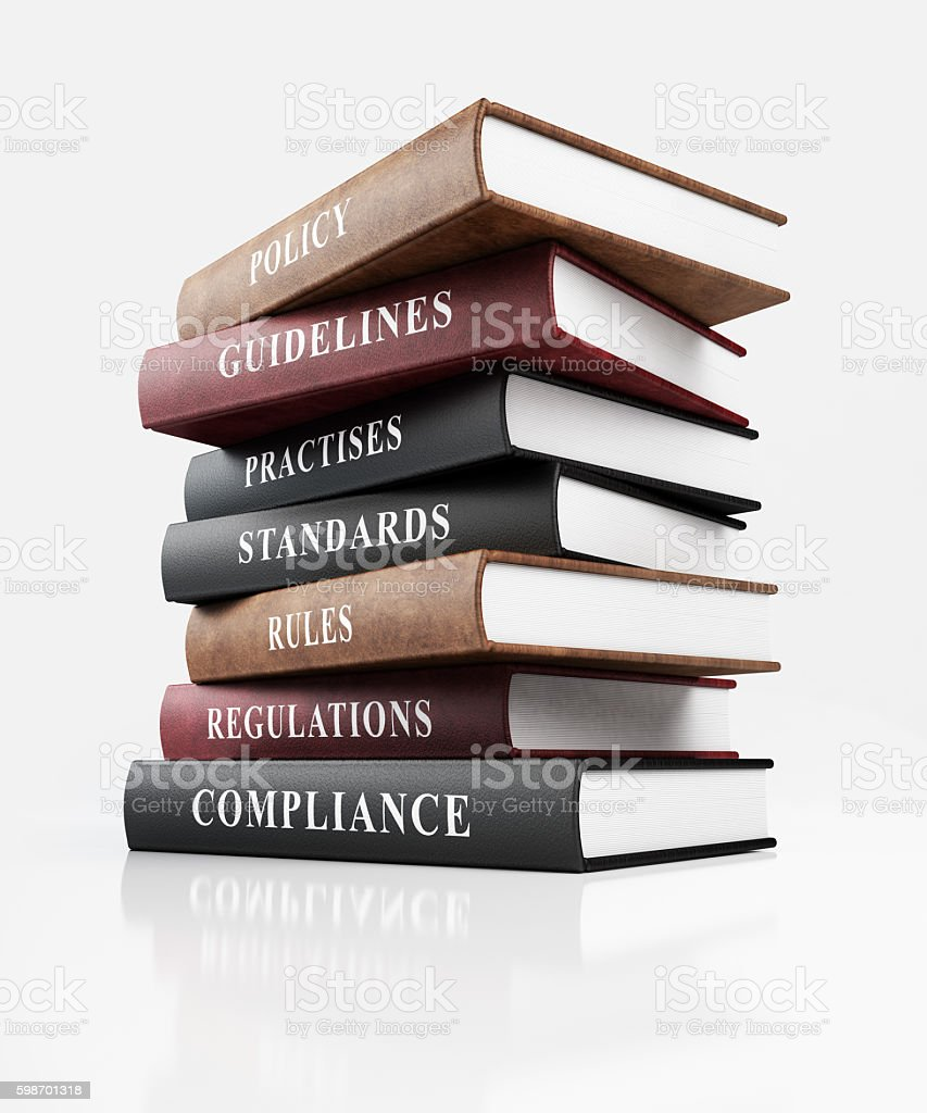 Book of Compliance stock photo