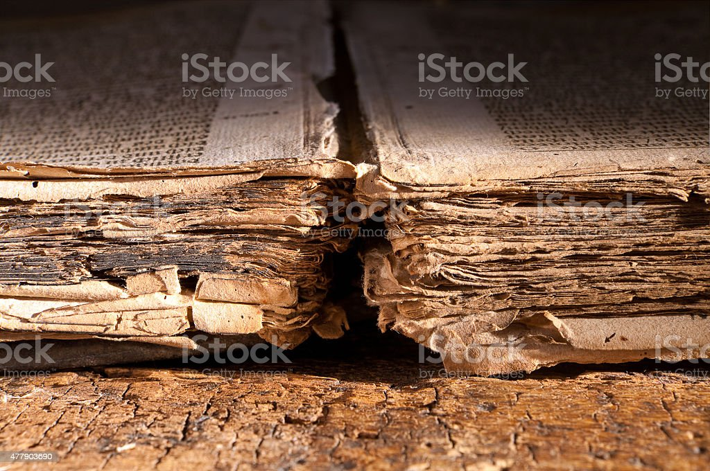 Book of dark ages stock photo
