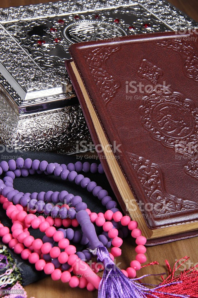 Book of Holy Quran stock photo
