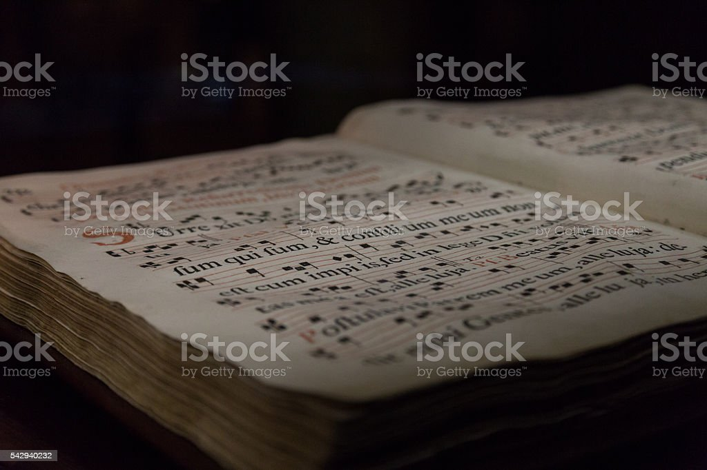 book of hymns stock photo