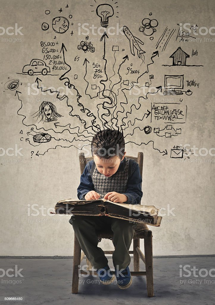 Book of Imagination stock photo