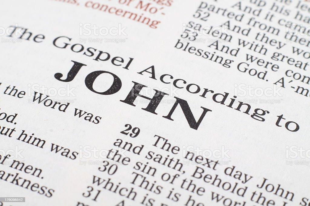Book of John stock photo