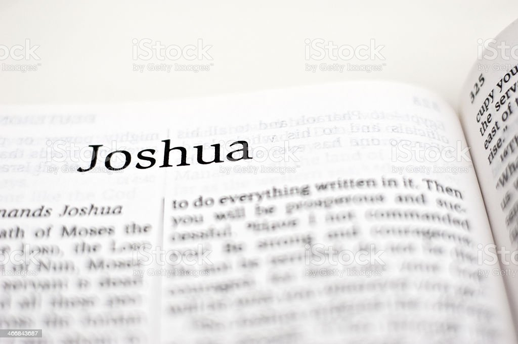 Book of Joshua stock photo