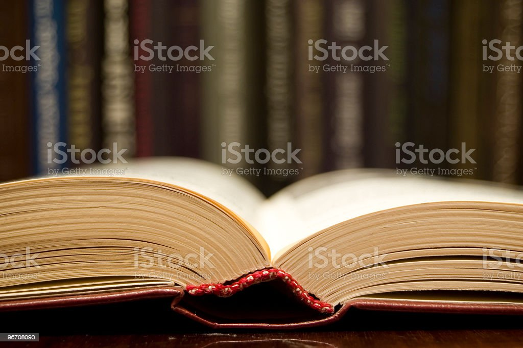 Book of knowledge stock photo