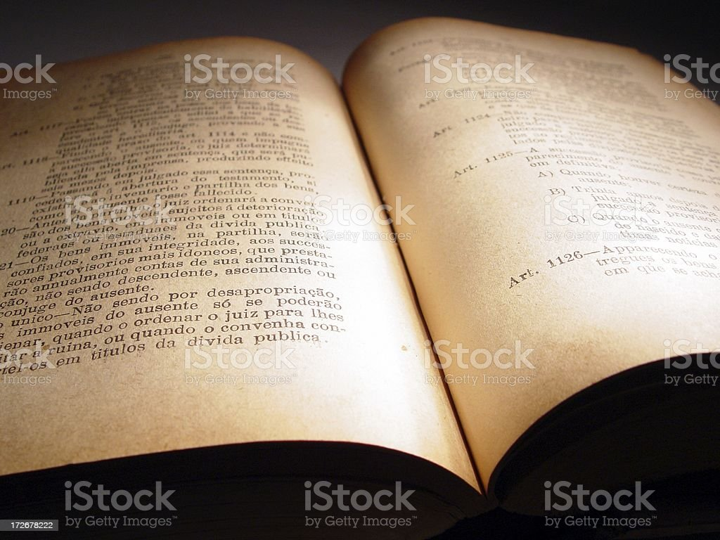 book of laws royalty-free stock photo