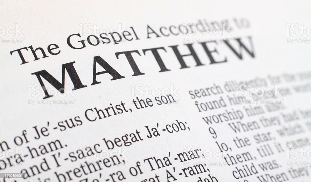 Book of Matthew stock photo