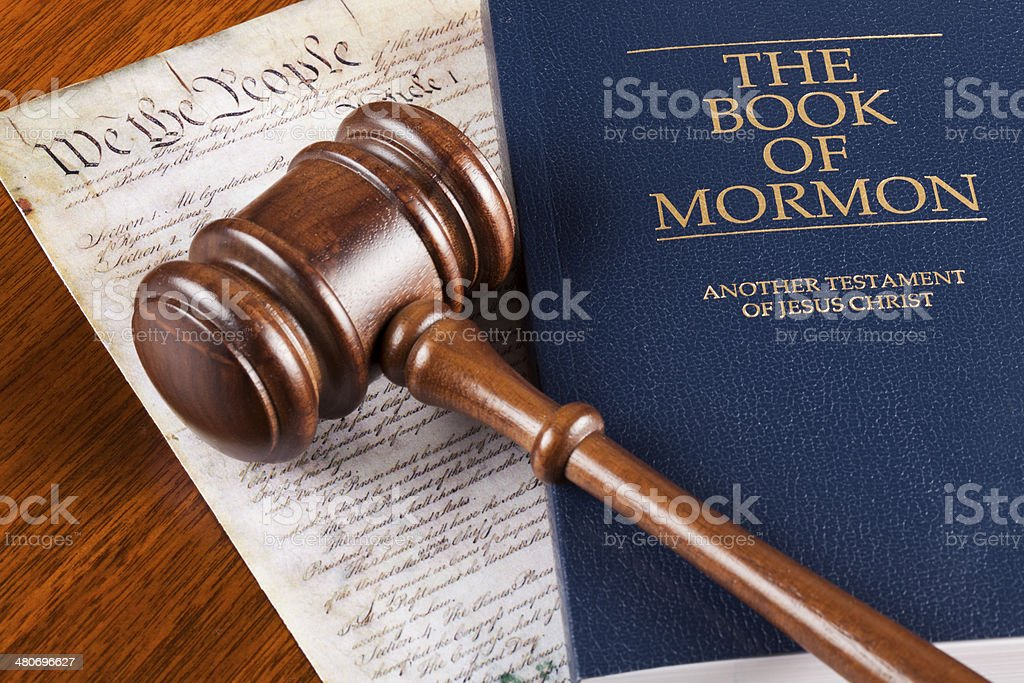 Book of Mormon and constitution royalty-free stock photo