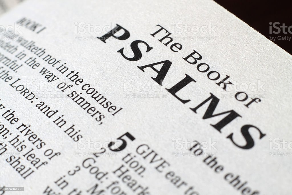 Book of Psalms royalty-free stock photo