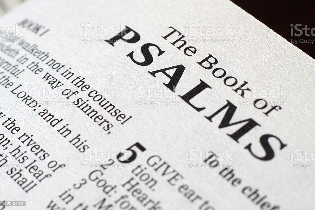 Book of Psalms stock photo