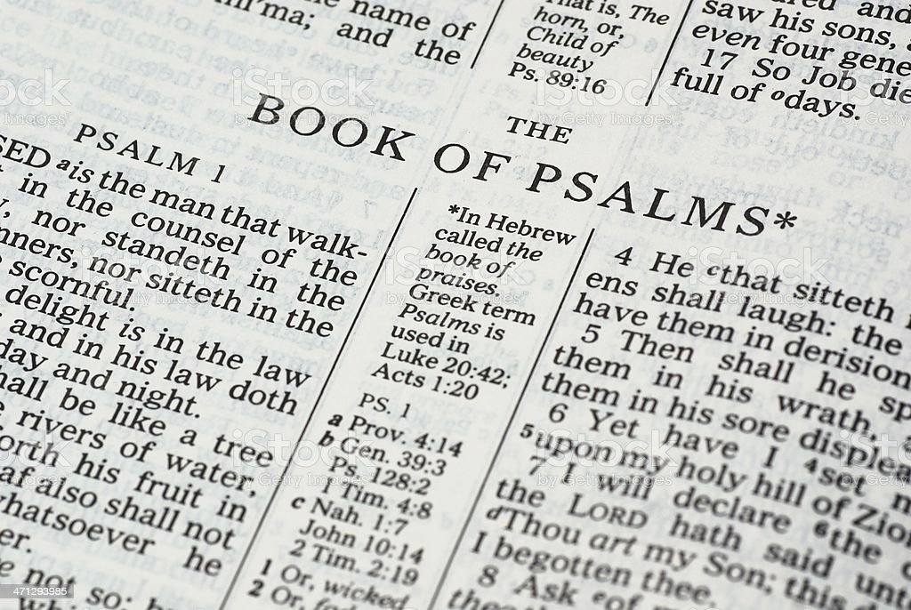 Book of Psalms stock photo