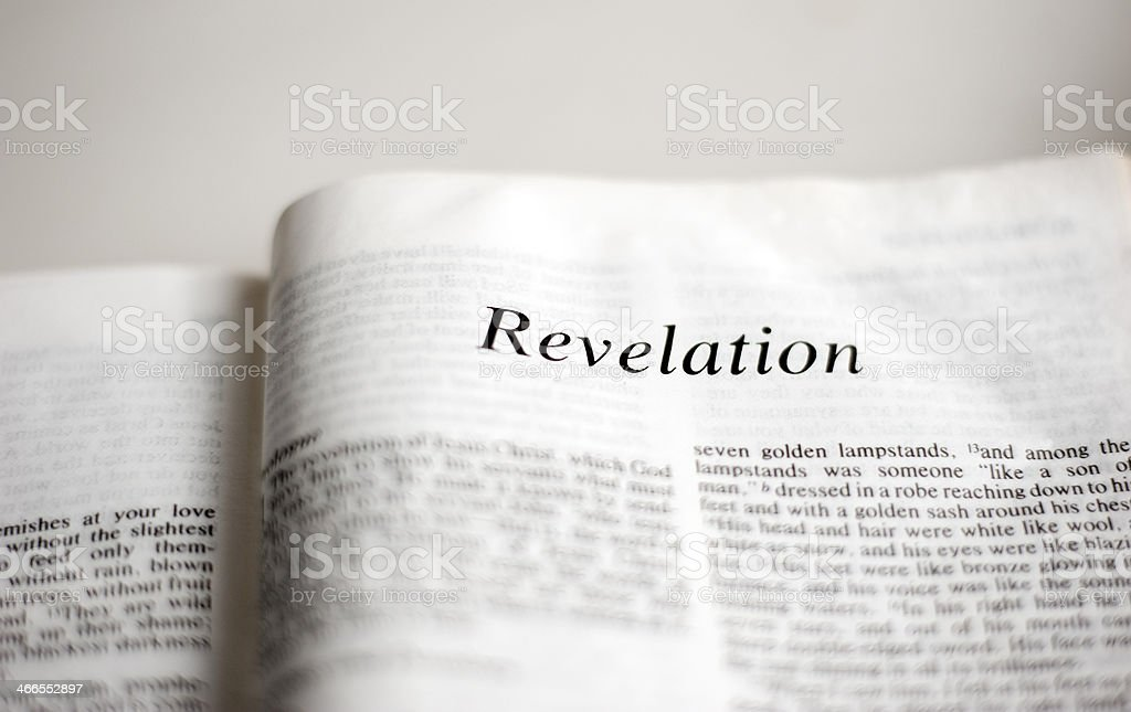 Book of Revelation stock photo