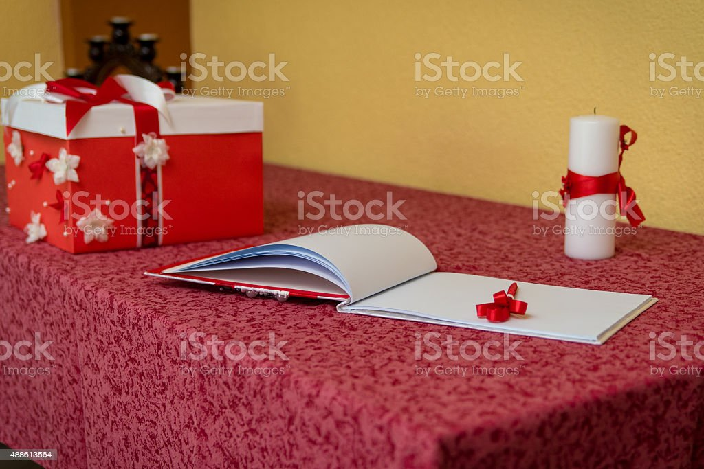 Book of wishes stock photo
