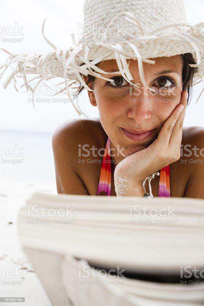 Book on Beach stock photo
