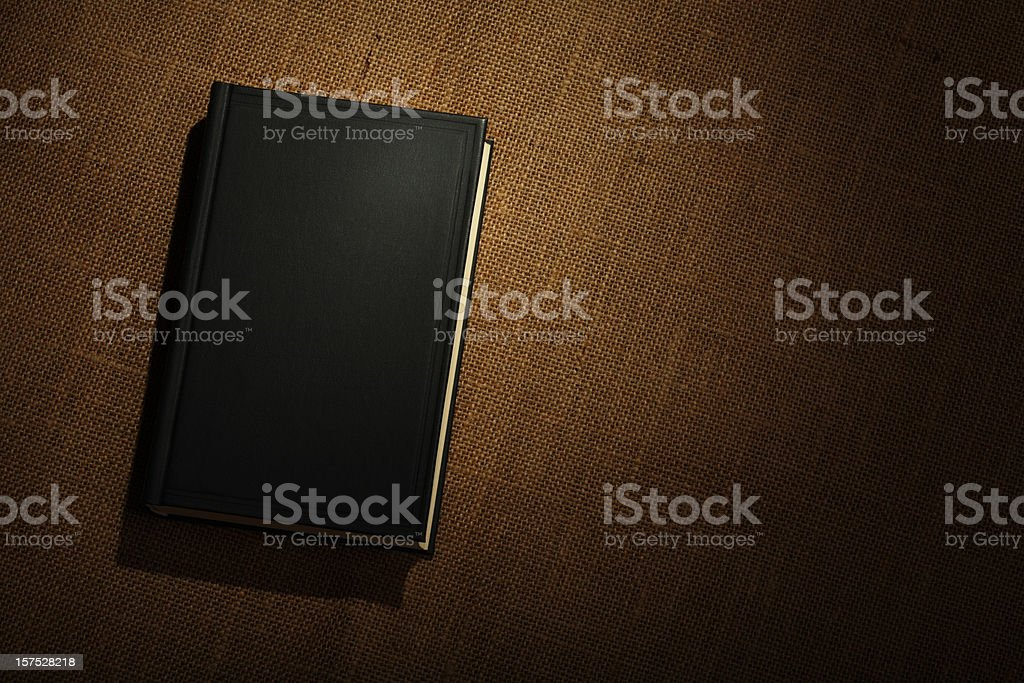 Book on Burlap royalty-free stock photo