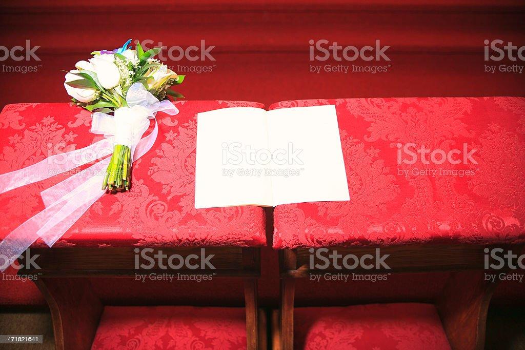 Book on Church - Wedding Celebration stock photo