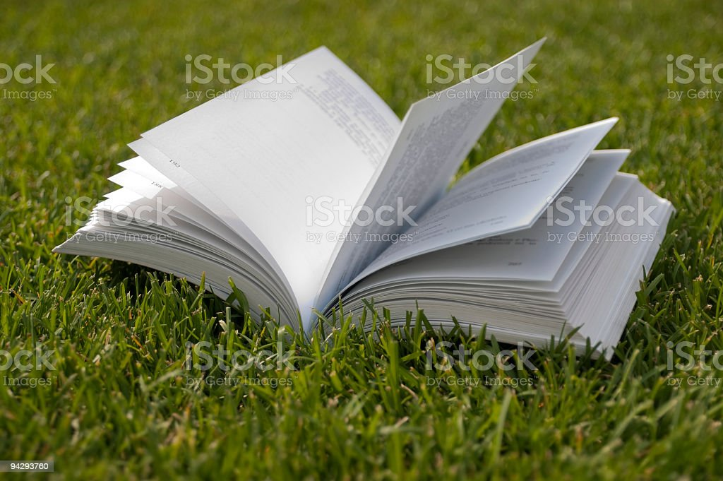 Book on the grass royalty-free stock photo