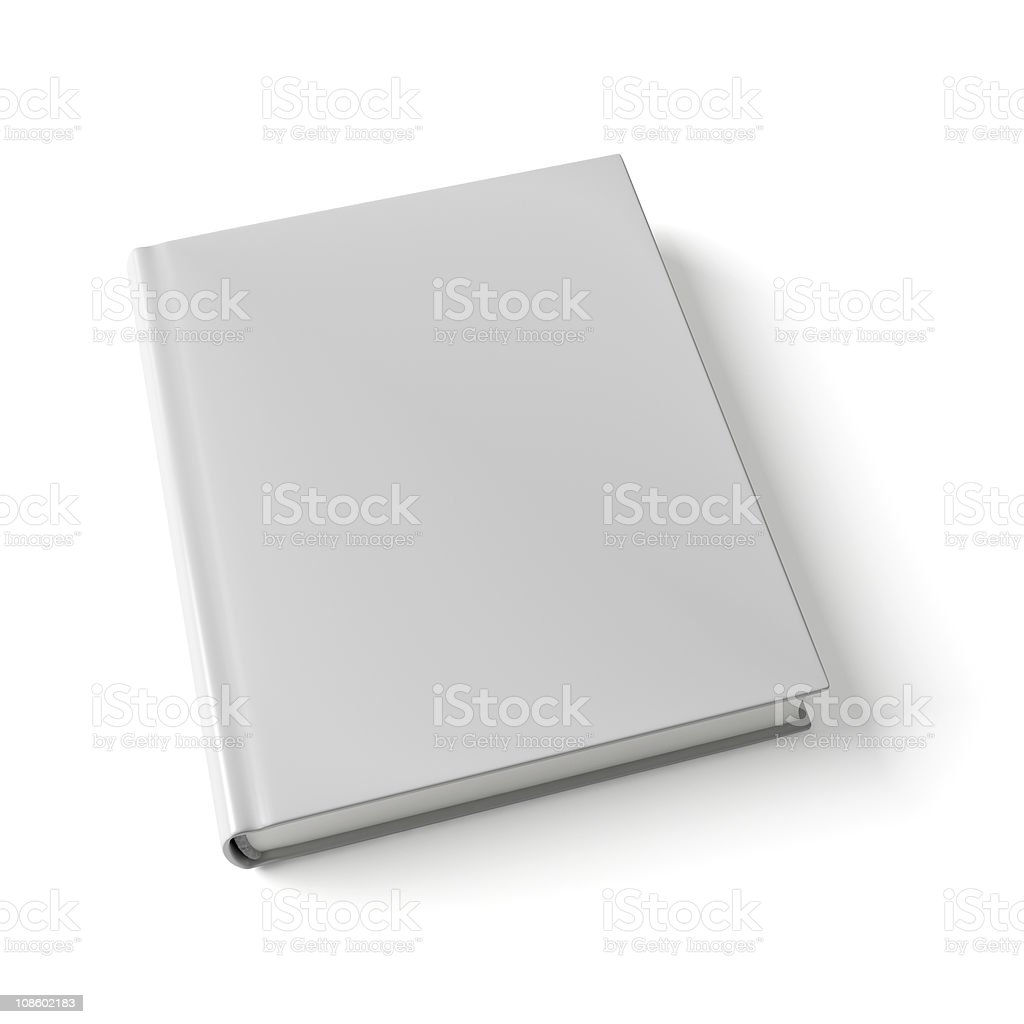Book on white background stock photo