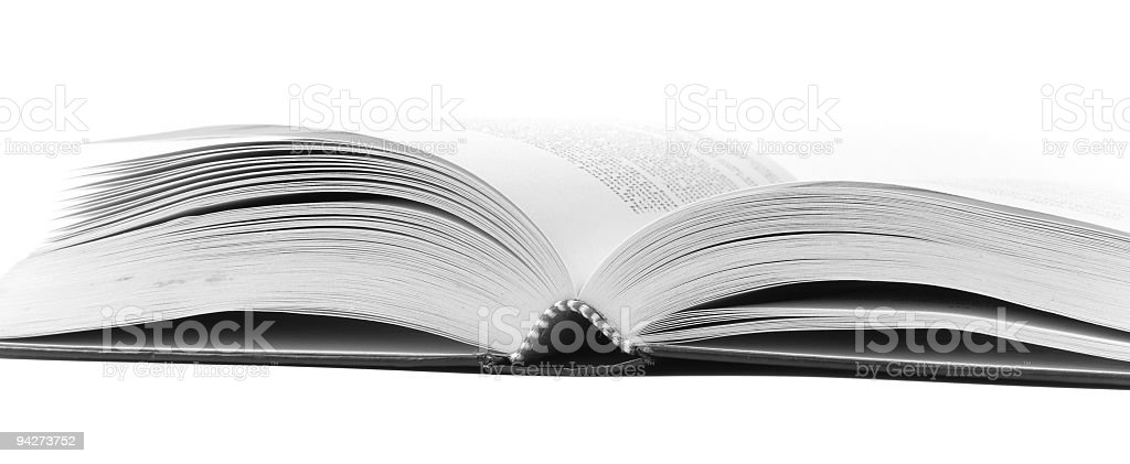 Book on white background royalty-free stock photo