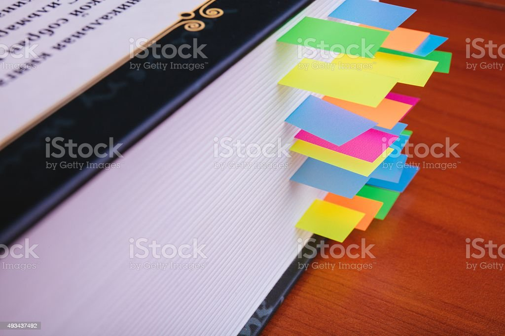 Book on wooden background stock photo