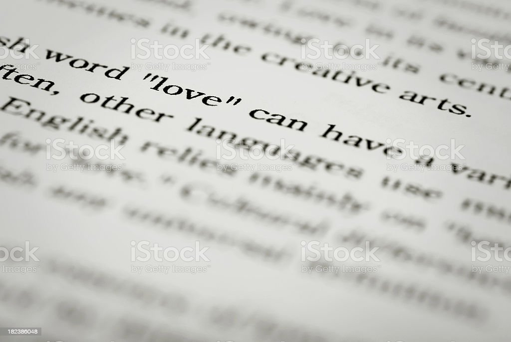 Book Page Love royalty-free stock photo