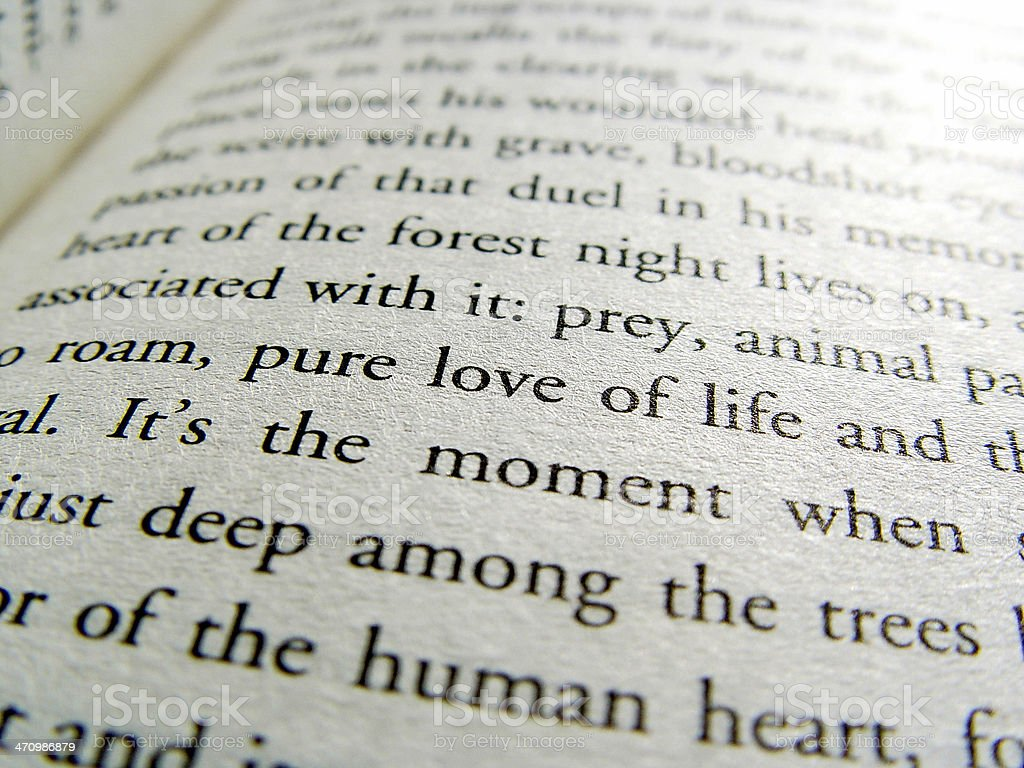 Book Page Love stock photo