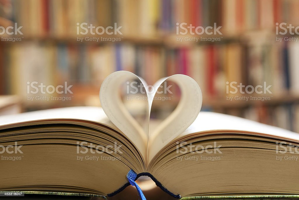 Book page stock photo