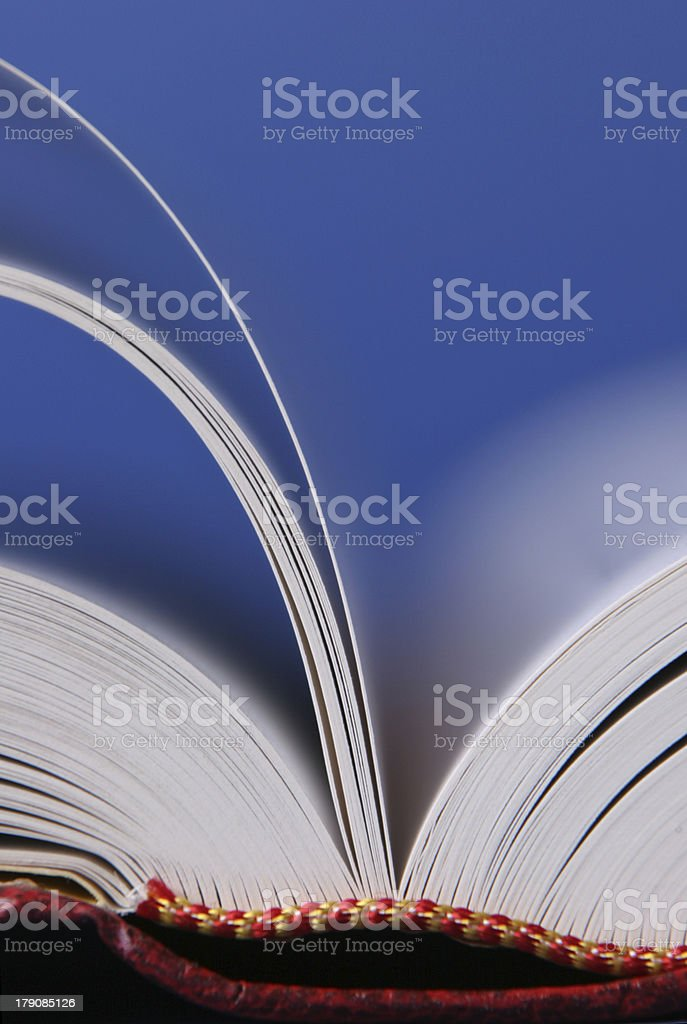 Book pages turning royalty-free stock photo