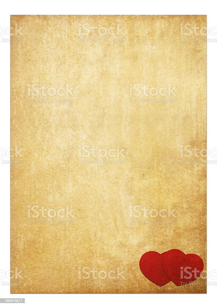 Book paper valentine background.Vintage style royalty-free stock photo