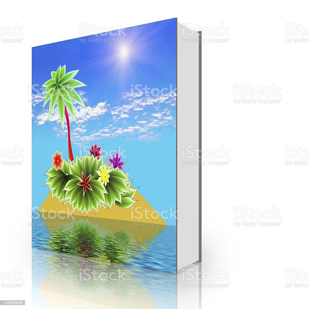 book paradise island royalty-free stock photo