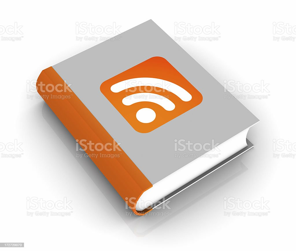 RSS Book royalty-free stock photo