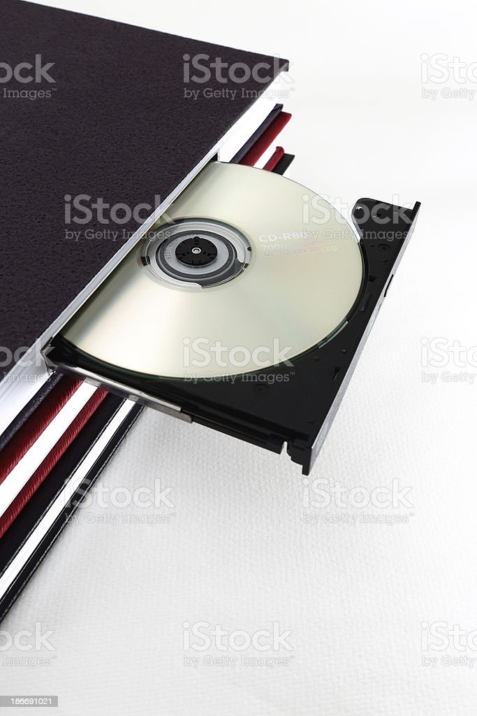 CD Book royalty-free stock photo