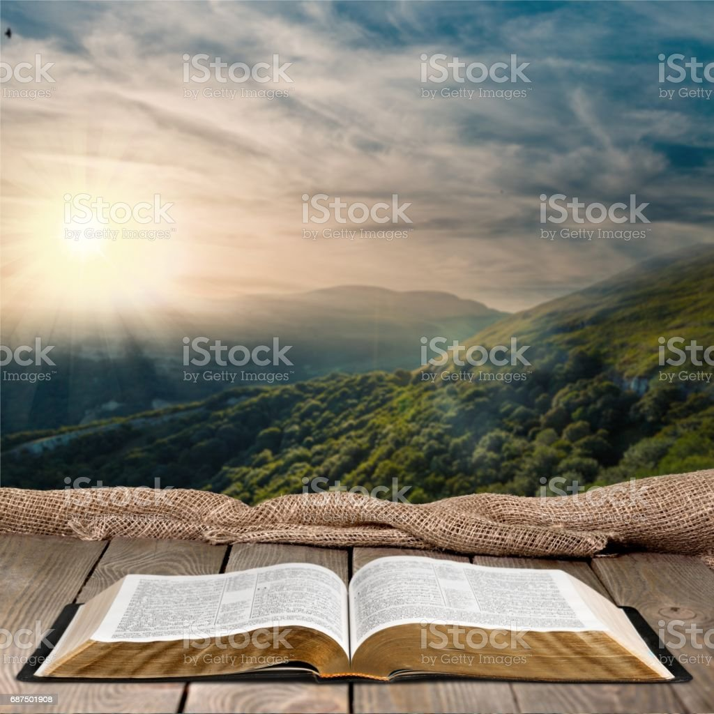 Open book object on background