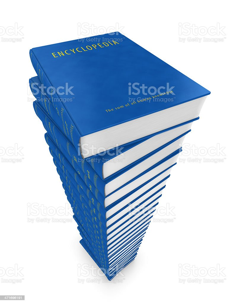 Book pile in perspective royalty-free stock photo
