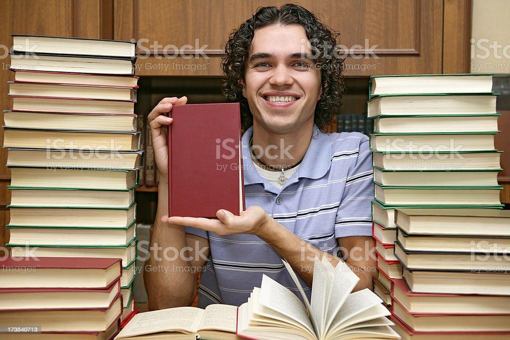 Book presentation royalty-free stock photo