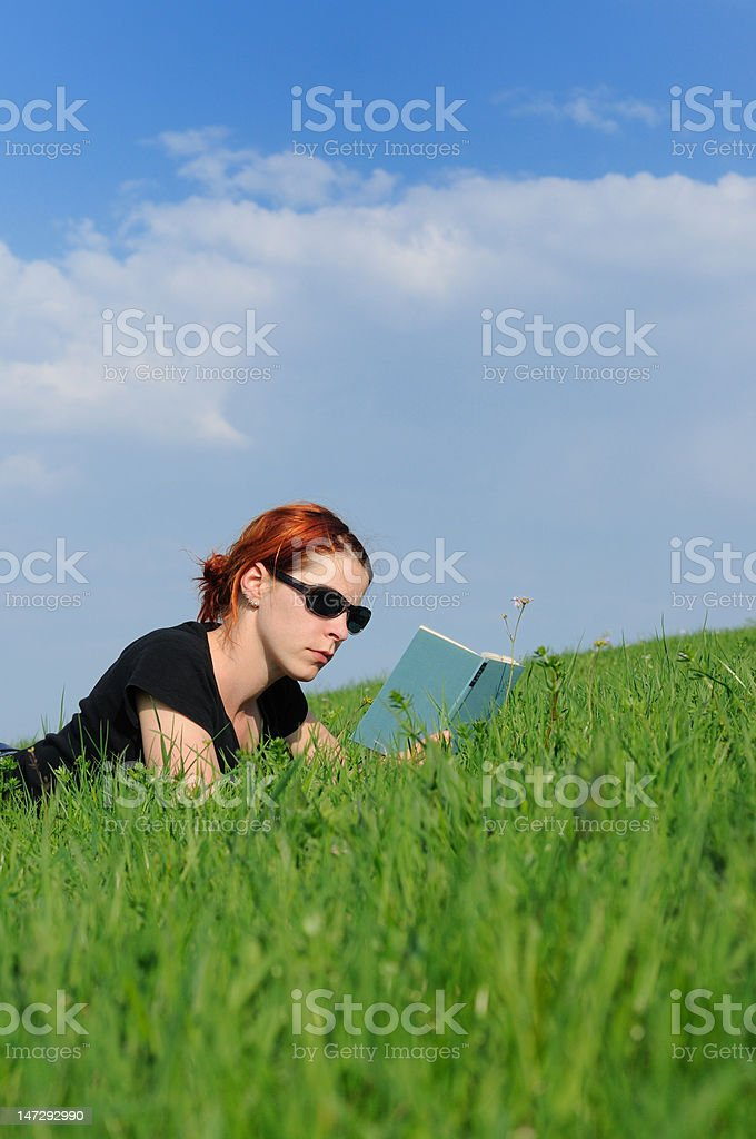 book read / reading royalty-free stock photo