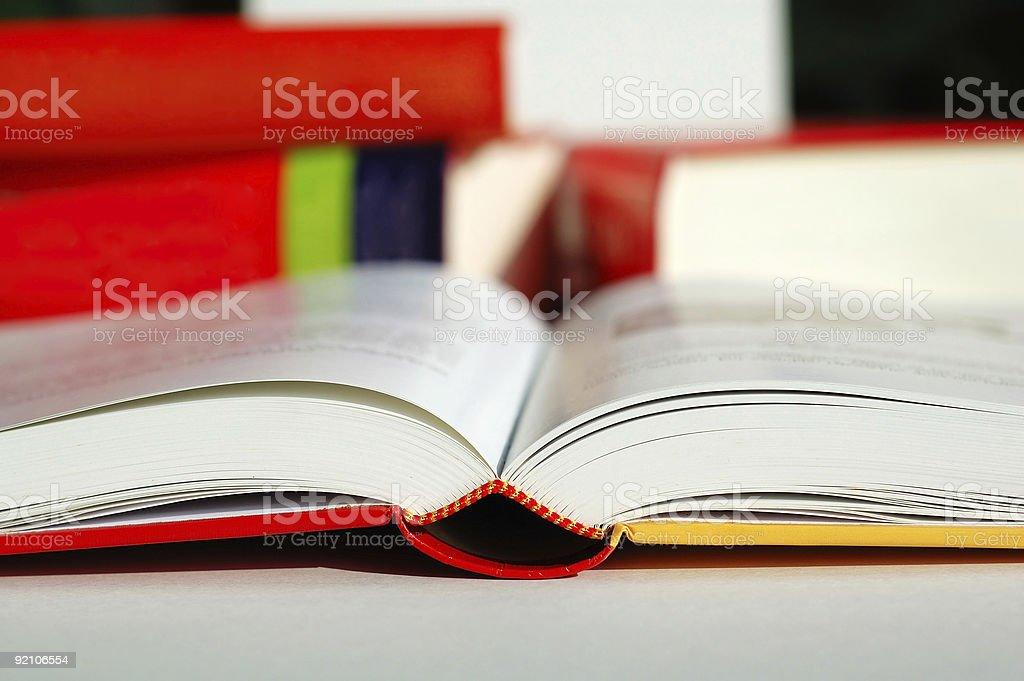 Book reading stock photo