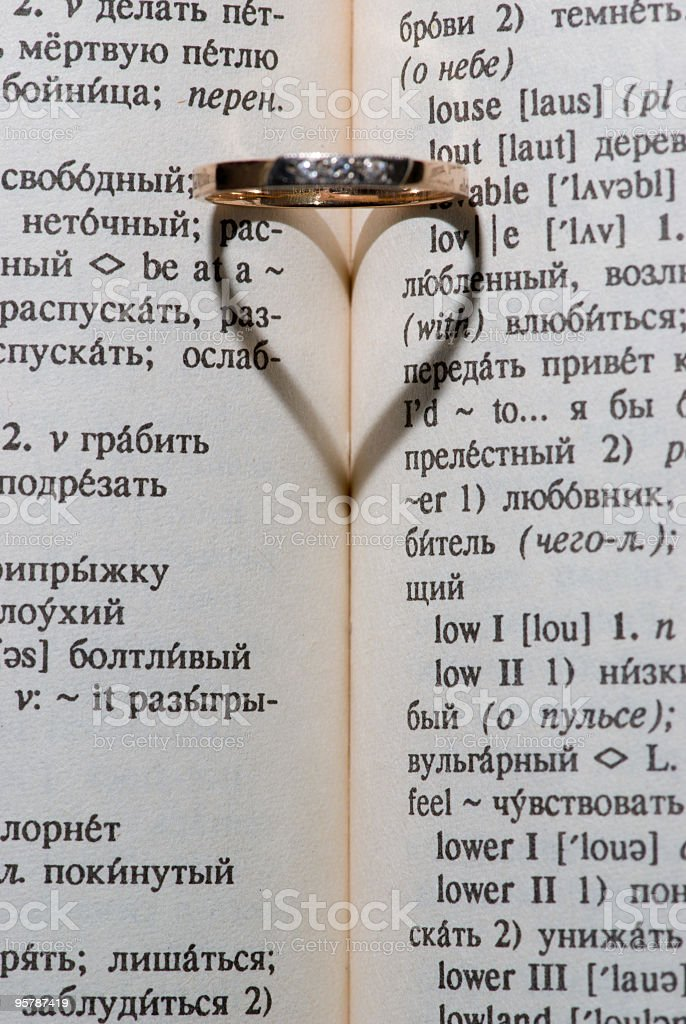 book ring heart royalty-free stock photo