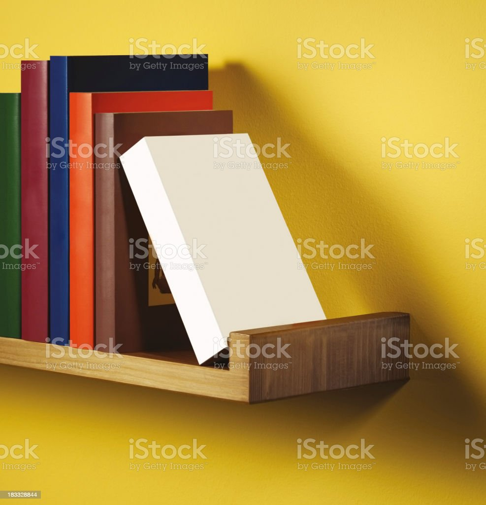 Book shelf standing empty box royalty-free stock photo