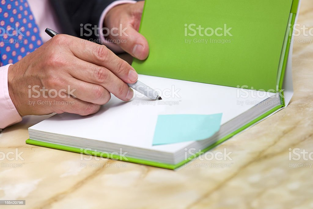 book signing author stock photo