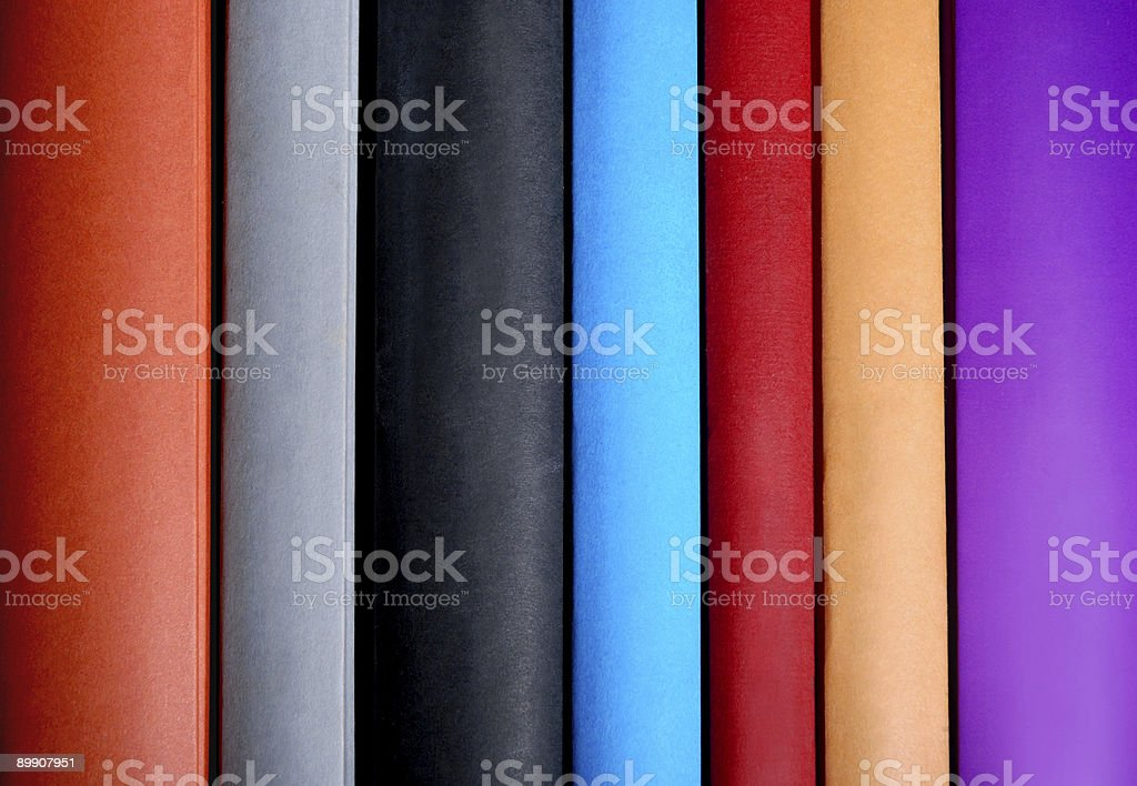 Book spines royalty-free stock photo
