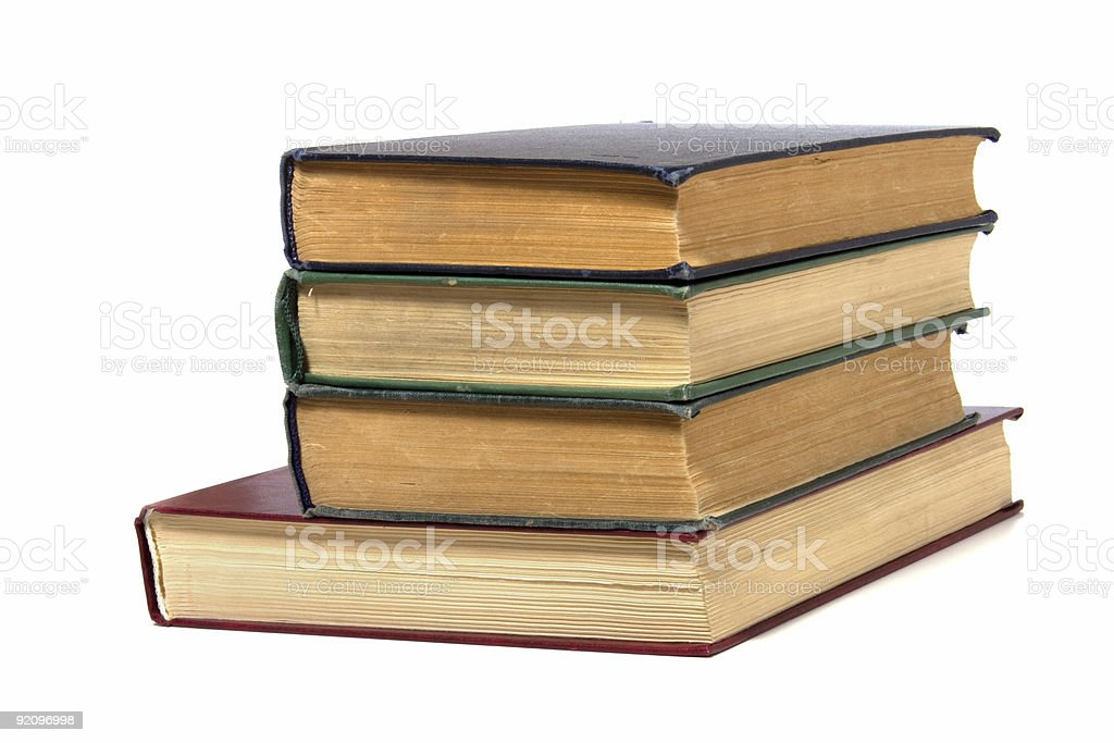 book stack  isolated on white royalty-free stock photo