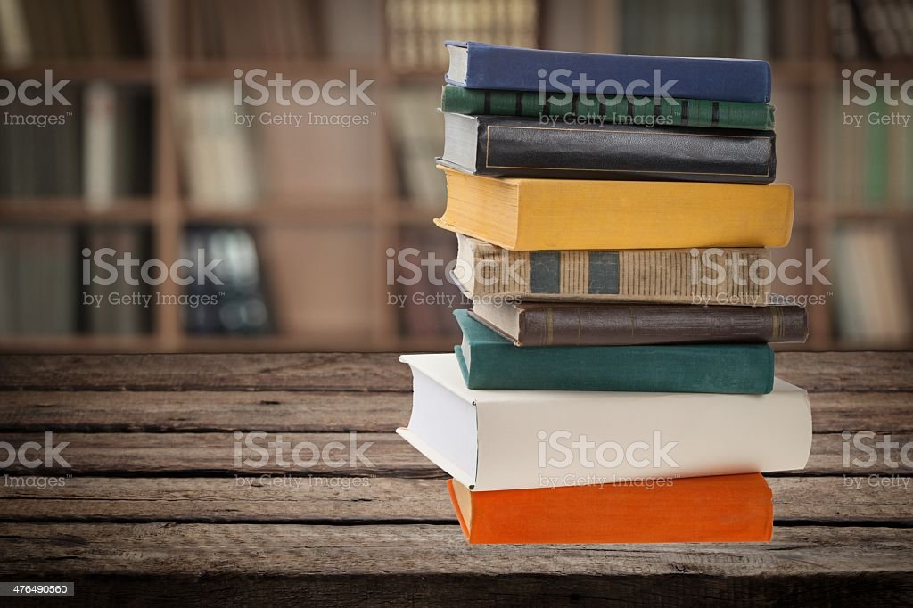 Book, Stack, Old stock photo