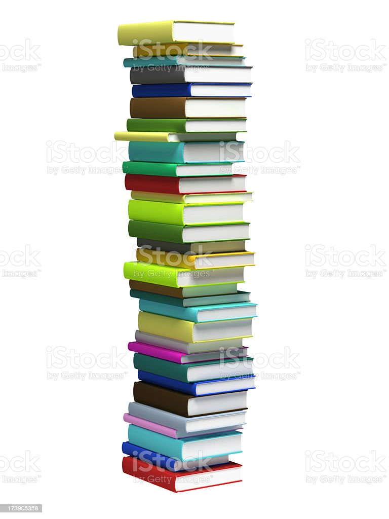 Book Stack (Isolated) royalty-free stock photo