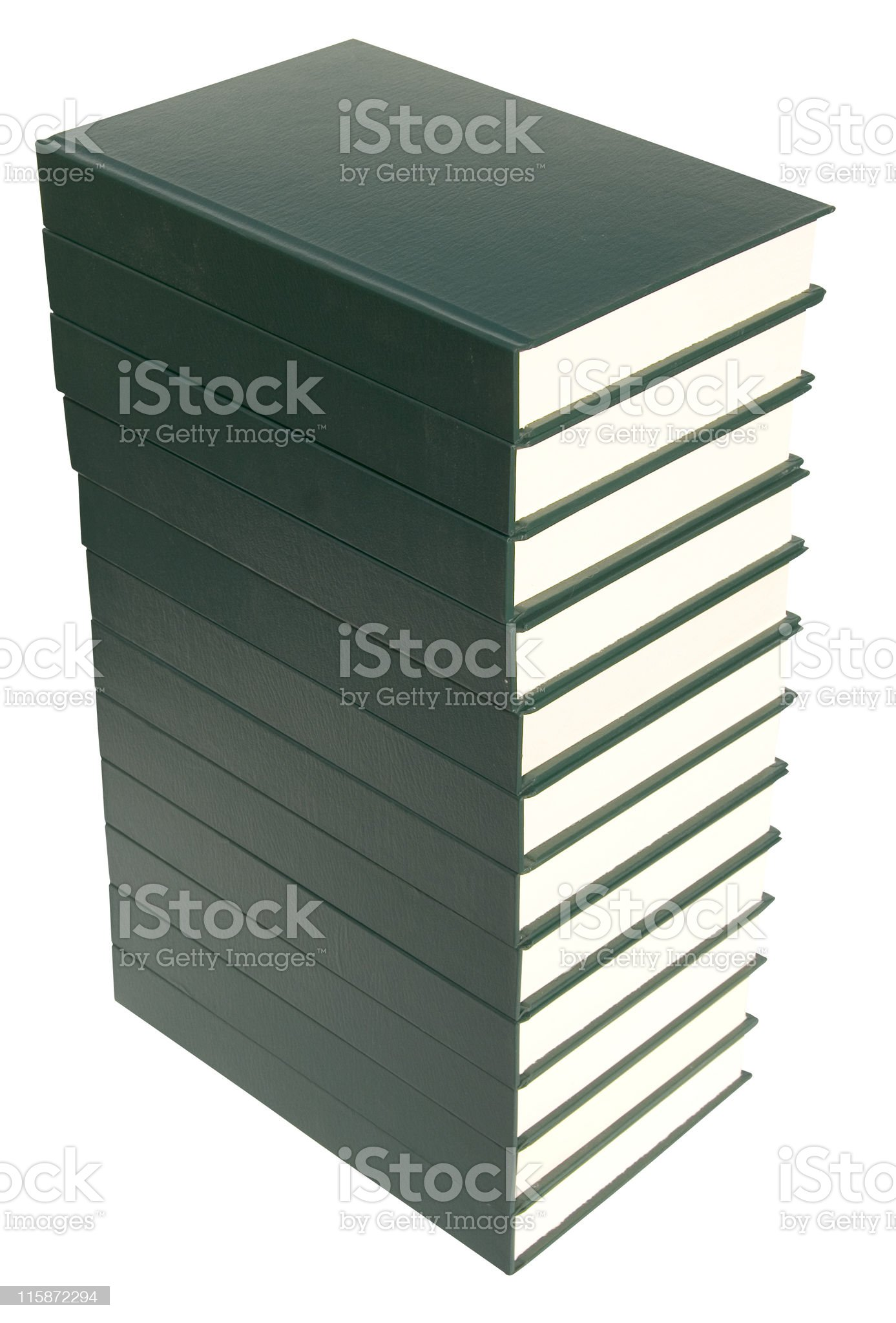 Book stack with clipping path royalty-free stock photo